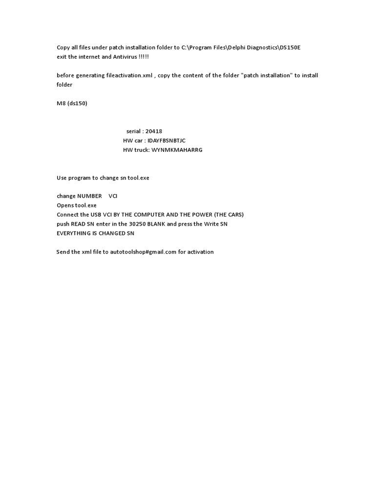 Autocom CDP 2012 03 Installation Instructions