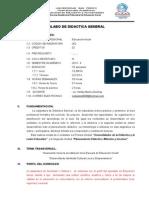 Silabo de Didactica - III Ciclo - Inicial (1)
