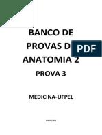 Banco de Provas de Anatomia 2 Prova 3