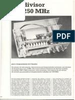 Prescaler Para Frequencimetro Digital de 1250Mhz (Junho de 1988)