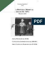 Lirica Hispanica Medieval. Seleccion 2013-2014
