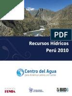 Recursos Hidricos Peru 2010