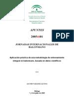 Aplicacion Practica de Metodologia de Entrenamiento Integral en Balonmano