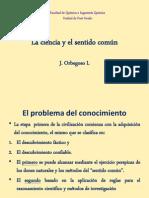 Jose1 La Ciencia y El Sentido Común