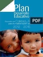 Plan de Desarrollo Educacion 2012