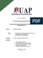 Estudio Del Proceso Administrativo en El Interior de Una Empresa