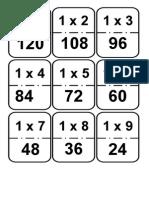 Domino de Multiplicaciones