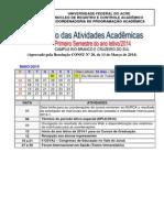 Calendário de Atividades Acadêmicas