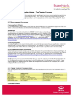 Supplier Guide Tender Process