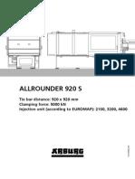 Arburg Allrounder 920s Td 528995 en Gb