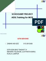 ADSL Training Schoolnet