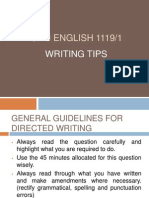 SPM English 1119/1 Writing Tips