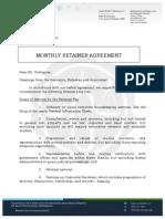 [WM] Monthly Retainer Agreement