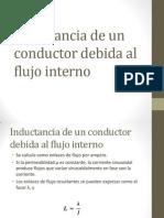Inductancia de Un Conductor Debida Al Flujo Interno