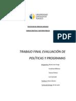 Trabajo Final Evaluación Políticas y Programas- Grego,Millanao,Pichún,Quezada