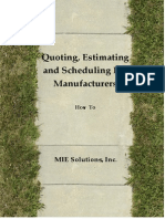 Quoting for Manufacturing