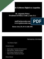 Primer Foro de Gobierno Digital en Argentina