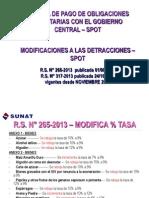 Modificaciones Detracciones Noviembre 2013