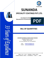 Sunanda's Latest Bill of Quantities water proofing