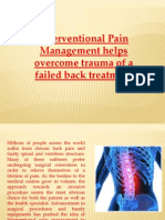 Failed Back Surgery Treatment Philadelphia