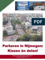 Parkeernota 2013-2017 Nijmegen