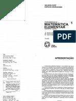 Fundamentos Da Matemática Elementar - Volume 01 - Conjuntos e Funções