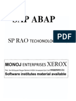 SAP-ABAP Material BY S .P.RAO