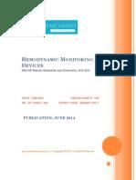 Hemodynamic Monitoring Devices, 2012-2018 - BRICSS