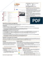 Google Presentations Quick Reference Guide
