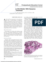 A 38-Year-Old Welder With Dyspnea and Iron Overload
