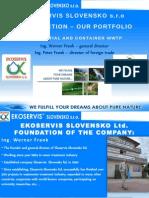 EKOSERVIS Slovakia, ltd. PRODUCT PRESENTATION