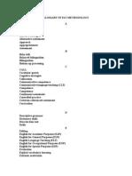 Glossary of ELT Methodology