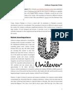 Unilever Business Ethics