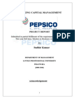 131603466 Working Capital Management of PEPSICO Sudhir Project