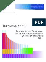 2001 Instr-12 Formulación Del Presupuesto ED SFE