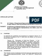 DBM Circular Letter 2004-12 - MYOA