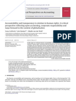 Accountability and Transparency in Relation to Human Rights_A Critical Perspective Reflecting Upon Accounting, Corporate Responsibility and Ways Forward in the Context of Globalisation