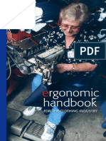 Handbook of Ergonomic for the Clothing Industry