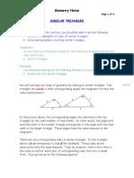 Similar Triangle Notes