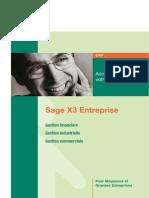 Fiche Produit Sage ERP X3 Detaillée