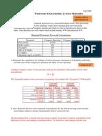 Wastewater Characteristics & Sewer Hydraulics