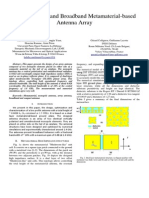 MetamaterialUltra Compact and Broadband Metamaterial-based  Antenna Array Array Antenna_upond