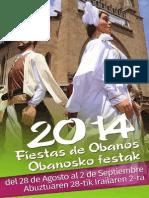 Fiestas de Obanos-eko Festak 2014.
