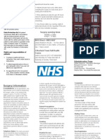 practice leaflet