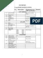Test Report Format for CFL Based Home Lights