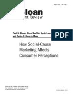 How Social-Cause Marketing Affects Consumer Perceptions [Bloom, Hoeffler, Keller, Meza]