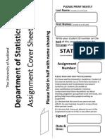 Statistics Coversheet