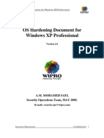 Hardening for Windows XP Prof