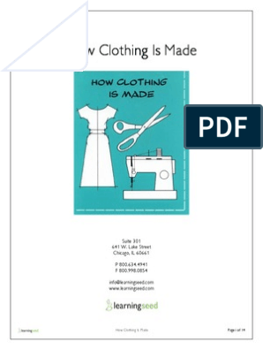 How Clothing Is Made - Learning Seed | Clothing | Fashion & Beauty