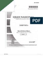 Pembahasan Mtk UN 2013 Paket 01